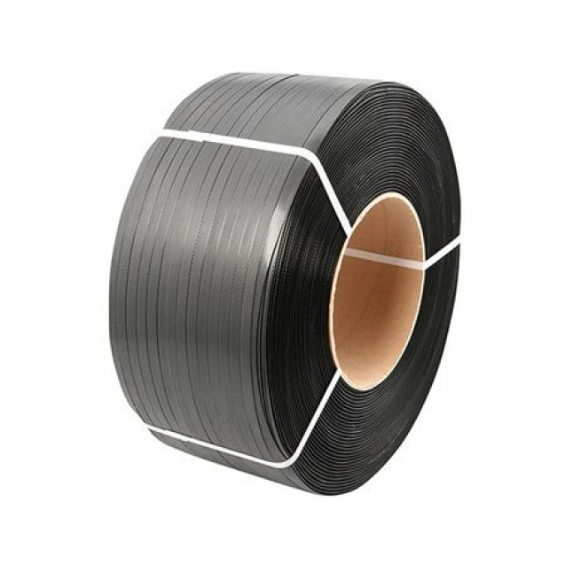 Banda de legat din PP (polipropilena),negru, 12 mm x 0,65 mm ( 2000 m/rola ), uz manual