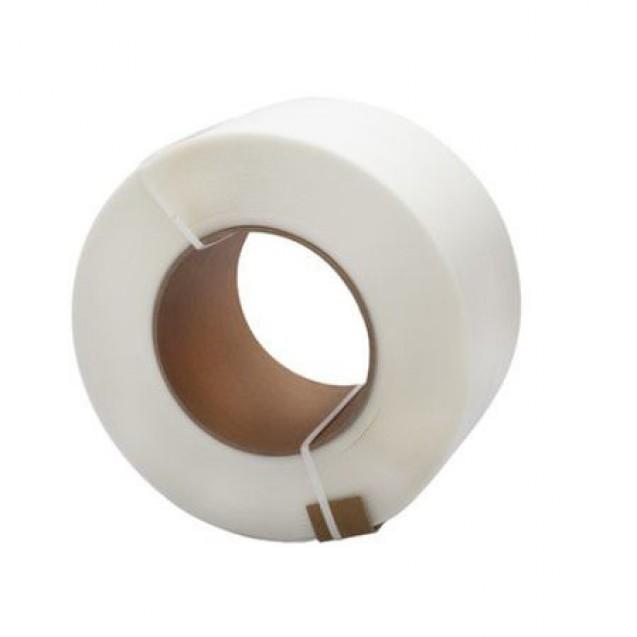 Banda de legat din PP (polipropilena),alb, 5 mm x 0,45 mm ( 7000 m/rola ), uz automat
