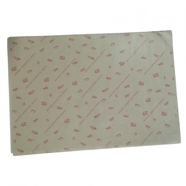 Hartie de ambalat, imprimata, 35x50 cm, , hartie MG natur , 1000 coli/set